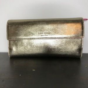 Kate Spade gold and pink wallet